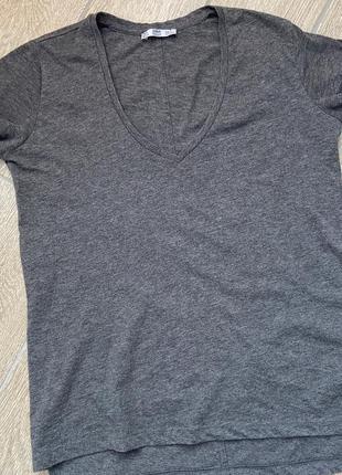Футболка zara, футболка с v- образным вырезом