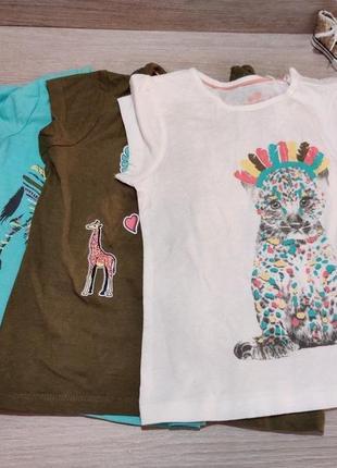 Цена за комплект из 3 коттоновых футболок для девочки