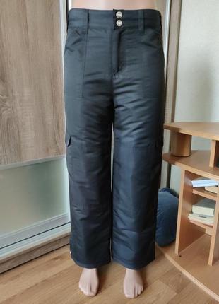 Зимние утепленные брюки на синтепоне