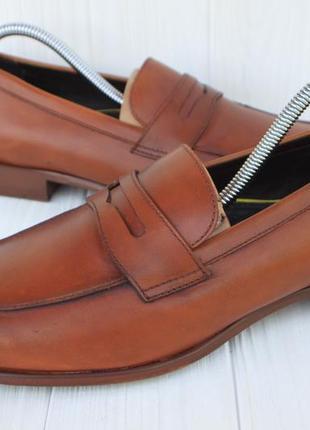 Новые лоферы prime shoes кожа англия 41р туфли мокасины