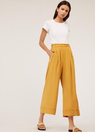Летние легкие широкие штаны oysho