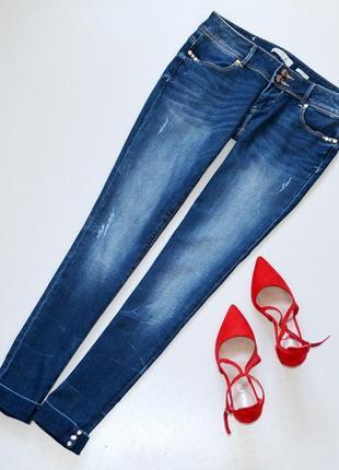 Стильные джинсы летние с красивой фурнитурой,низкая посадка