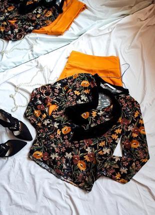 Красивая блуза рубашка с бархатным бантом1 фото