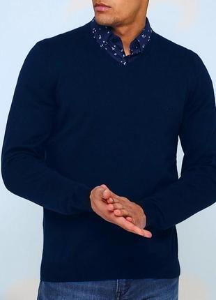 Шикарный хлопковый джемпер hugo boss пуловер лонгслив
