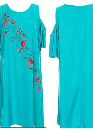 Летнее платье 100% вискоза с открытыми плечами от canda c&a германия