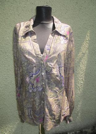 Шелково-хлопковая блузка