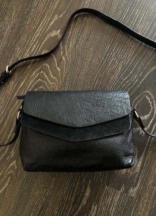 Шикарная кожаная сумка сумочка клатч кроссбоди