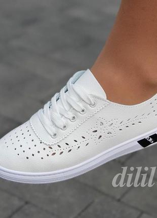 Кроссовки мокасины женские белые летние весенние - кросівки мокасини жіночі білі літні