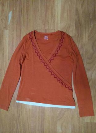 Оранжевый женский реглан