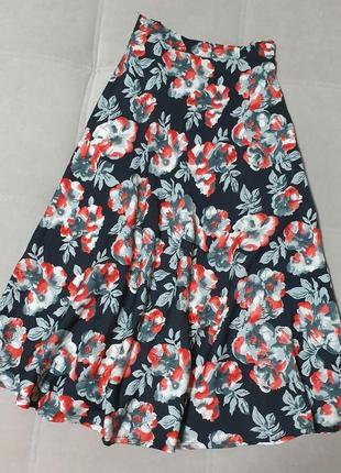 Летняя юбка миди солнце р.xs-s