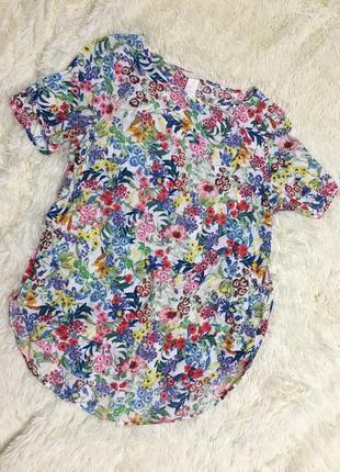Нежная блуза в цветочки