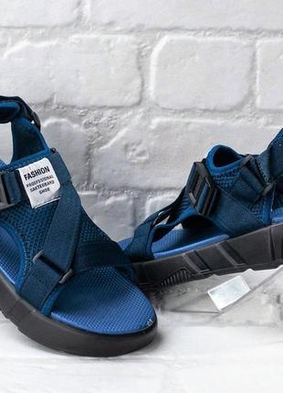 Сандалии босоножки мужские синие (сл-6801-сн)