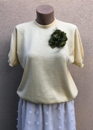 Брендовя,винтажная,трикотажная блузка,кофточка,футболка,шерсть мериноса 100% шотландия