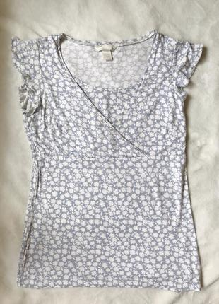 Летняя кофта футболка для кормления h&m mama, размер s