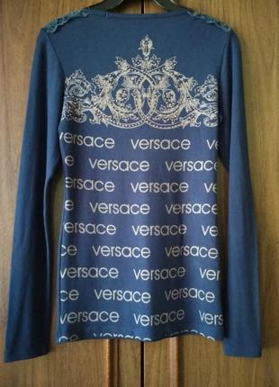 Логслив женский treysi с надписями бренда versace
