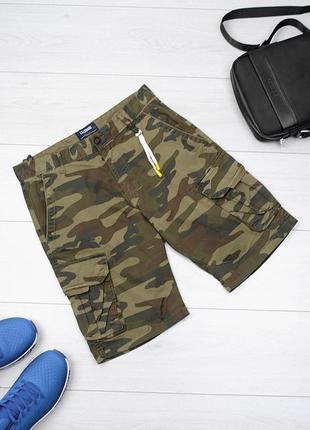 Мужские камуфляжные шорты хаки