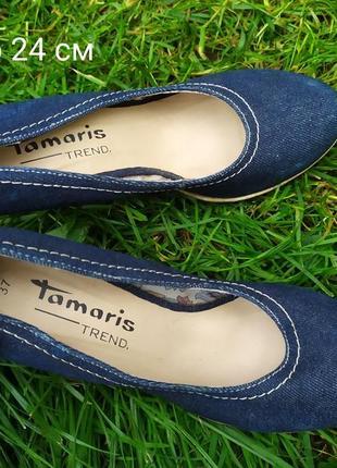 Туфельки жіночі tamaris 37 розмір 24 см стелька