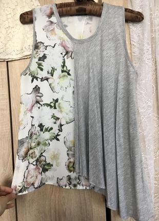 Асимметричный актуальный топ майка блуза zara s
