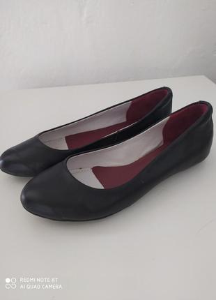 Балетки кожа туфли