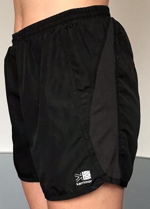 Черные спортивные лёгкие беговые шорты karrimor run xlite
