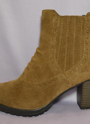"""Р37-37,5и40 """"pier one"""",германия, натуральная кожа! изысканные,комфортные ботильоны ботинки"""