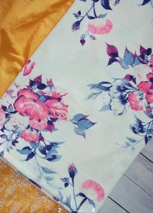 Шикарное платье футляр в цветы2 фото