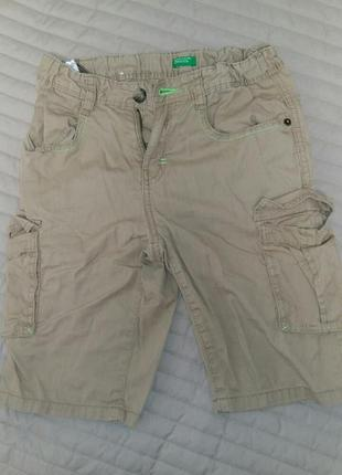 Легкие итальянские шорты песочного цвета