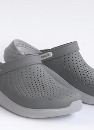 Кроксы мужскиесабо crocs literide clogslate grey/light grey