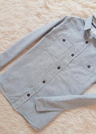 Качественная  котоновая рубашка от zara
