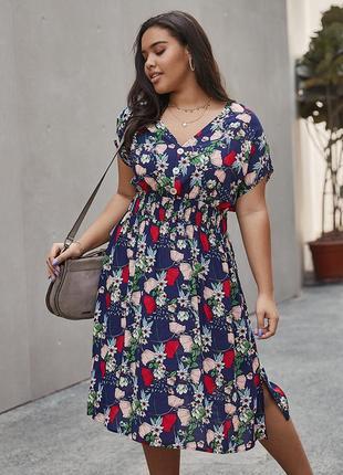 Летнее платье большого размера