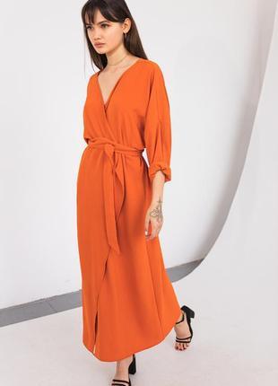 Яркое летнее платье кимоно макси на запах