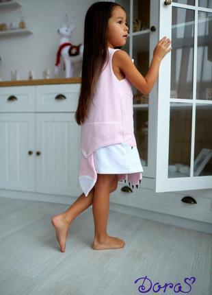 Велюровое платье для малышки кити,  розовый сарафан детский, сарафан с котиком3 фото