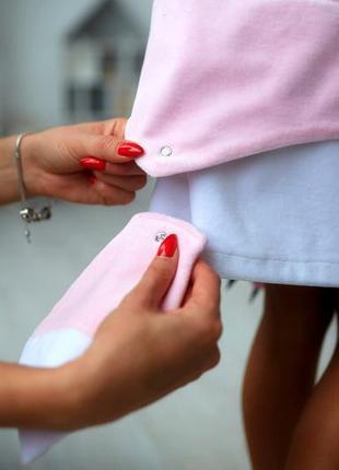 Велюровое платье для малышки кити,  розовый сарафан детский, сарафан с котиком5 фото
