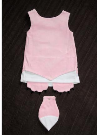 Велюровое платье для малышки кити,  розовый сарафан детский, сарафан с котиком8 фото