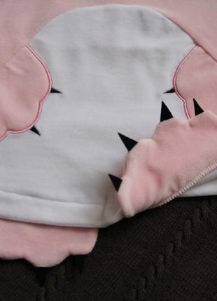 Велюровое платье для малышки кити,  розовый сарафан детский, сарафан с котиком9 фото