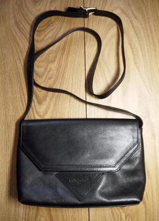 Женская кожаная сумочка черного цвета emillio carducci