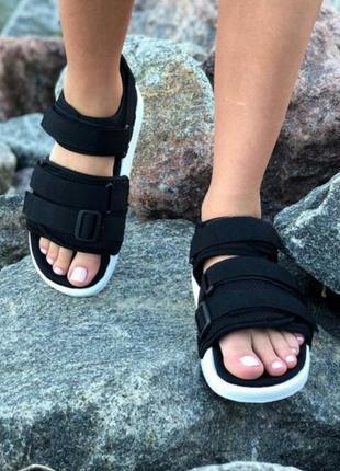 🔥удобные и стильные сандали adidas adilette sandals black сандалі босоніжки босоножки