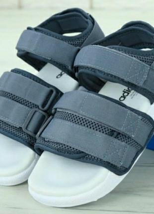 🔥удобные и стильные сандали adidas adilette sandals grey сандалі босоніжки босоножки
