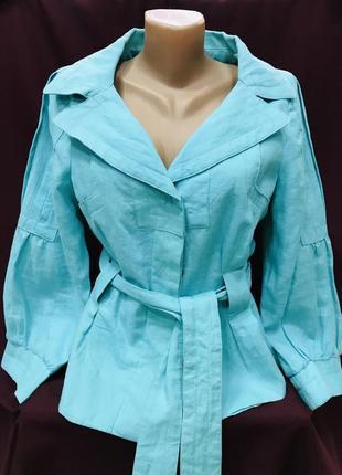 Льняний брендовий піджак пиджак лён розмір с-м