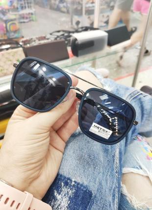 Фирменные солнцезащитные синие очки matrix polarized unisex окуляри