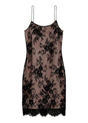 Шикарное кружевное платье. h&m. xs. s. новое.