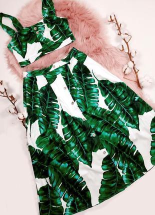 """Крутой костюм с принтом """"пальмовые листья"""""""