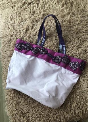 Класссная пляжная летняя сумка vera wang