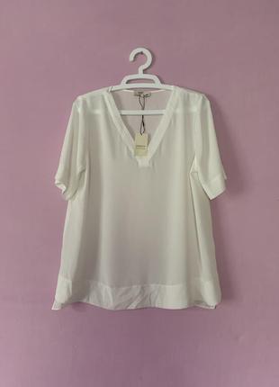 Белая шикарная блуза молочного цвета новая шифон