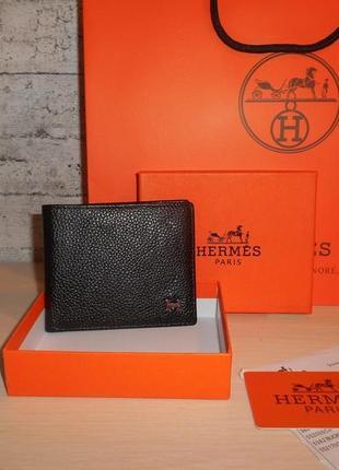 Мужской кошелек, портмоне, бумажник hermes, кожа, франция 55-009