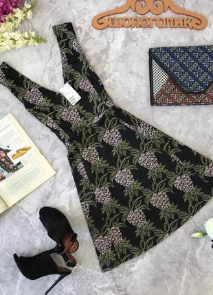 Платье с ананасами zara