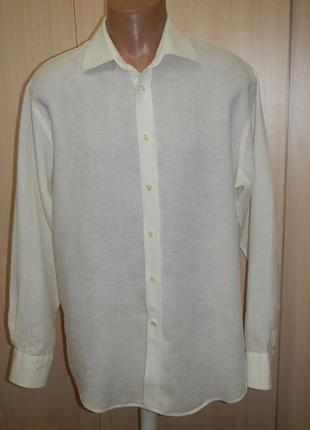Льняная рубашка woodhouse p.42(xl)