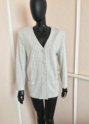 Пиджак в полоску блейзр жакет италия