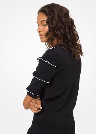 Оригинал! пуловер stretch-viscose ruffled pullover ms96nw95zv