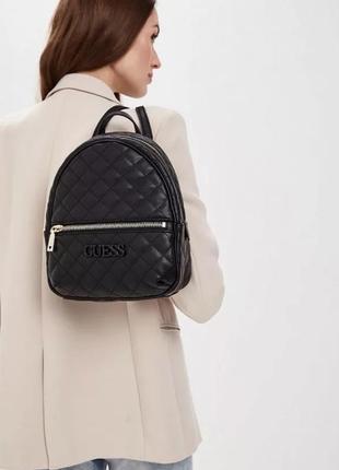 Черный оригинальный рюкзак guess оригинал